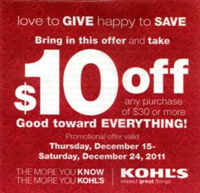 Coupon codes for kohls january 2018