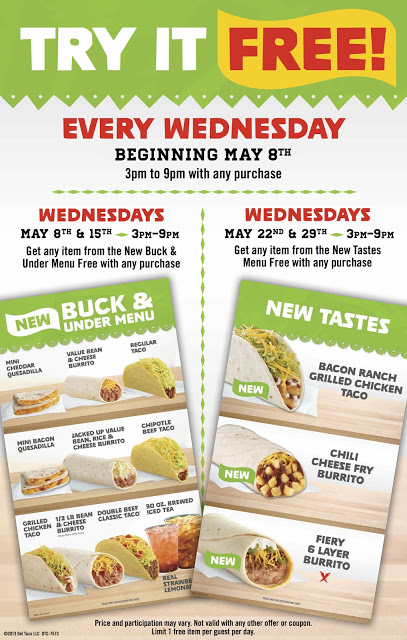 Del Taco: Buck & Under & New Tastes Menu ~ Try It FREE ~ Plus a Giveaway!