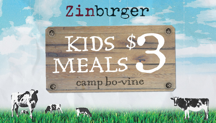 Zinburger $3 Bo-Vine Kids Meal For Summer + $50 Gift Card Giveaway!