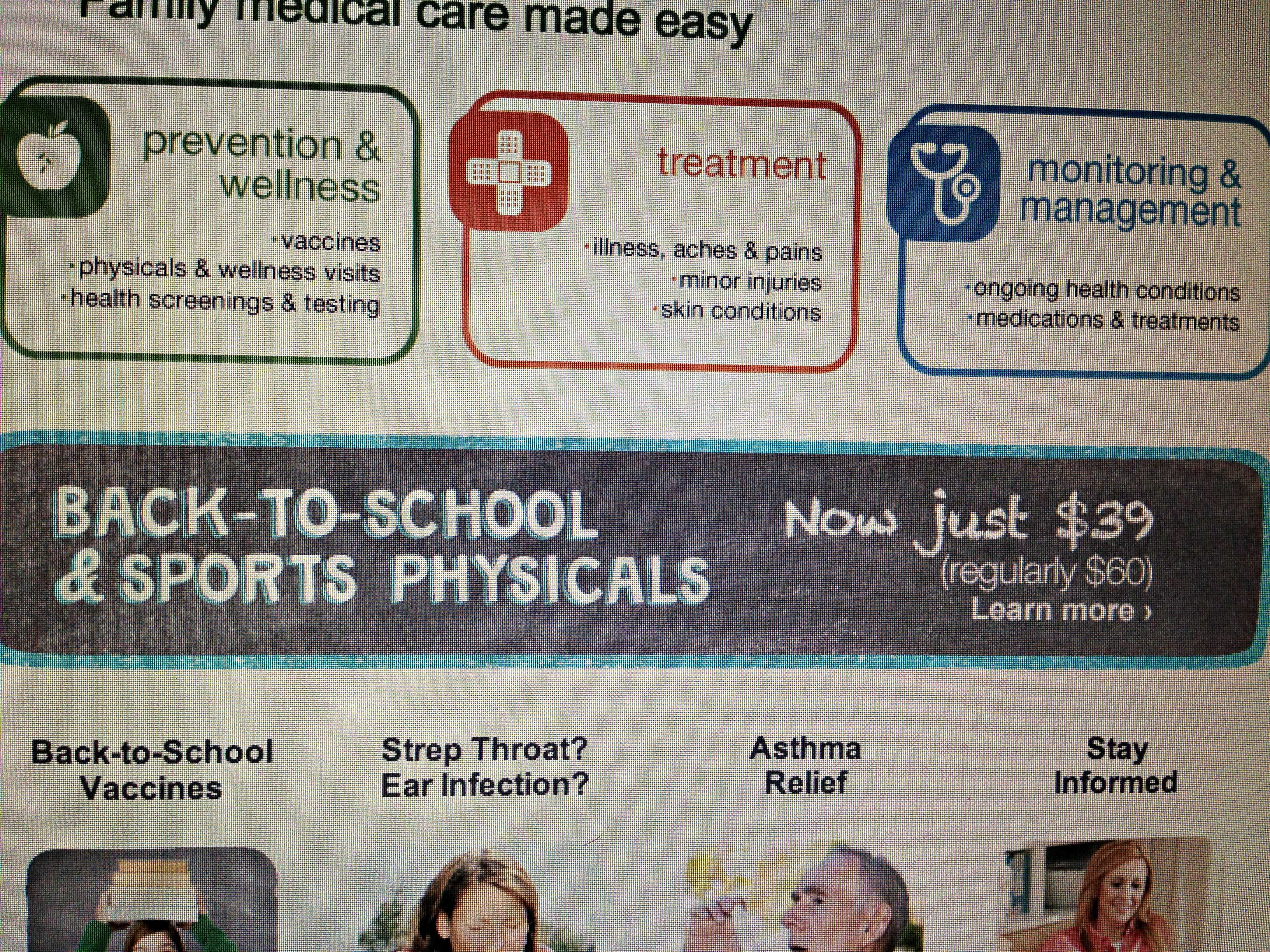 Walgreens Healthcare Clinic Offers Back-To-School Physicals!