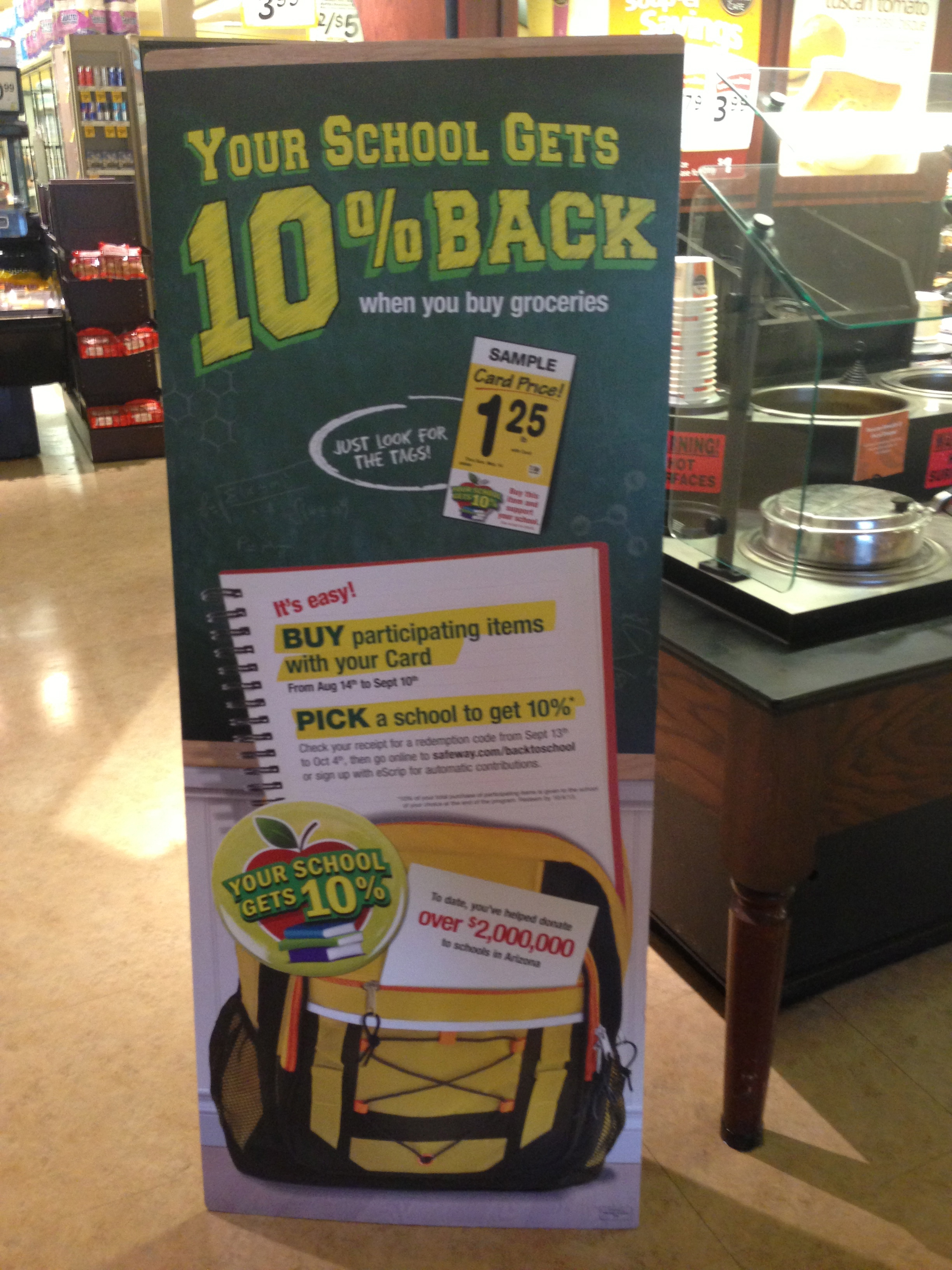 #ad Safeway 10% Back To School