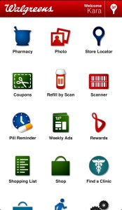 The Walgreens app makes finding Healthcare Clinic locations easy.