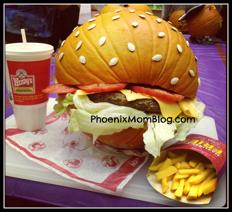Easy Hamburger Pumpkin For Halloween