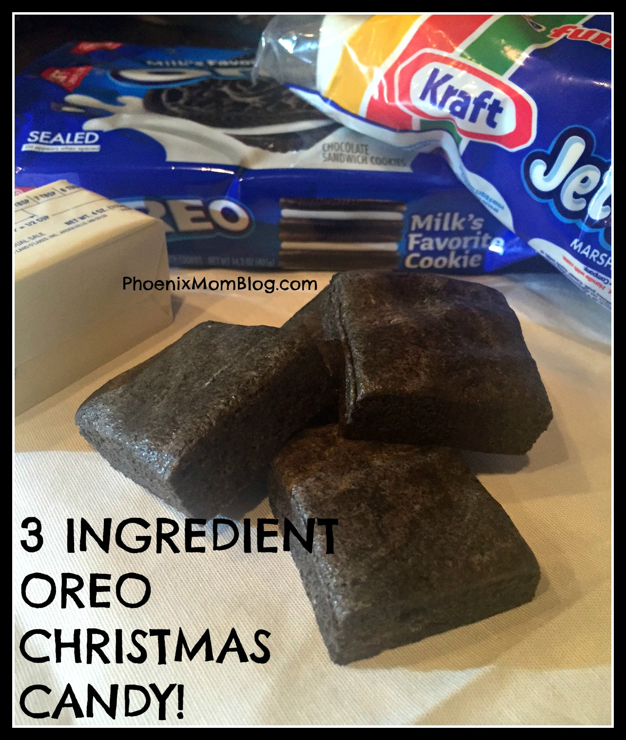 3 Ingredient Oreo Christmas Candy!