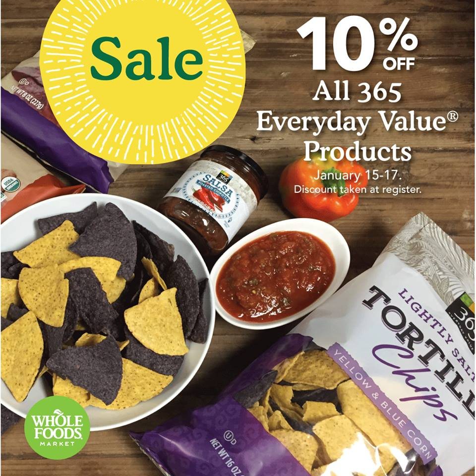 Whole Foods: Pantry Staples on Sale January 15 – 17!