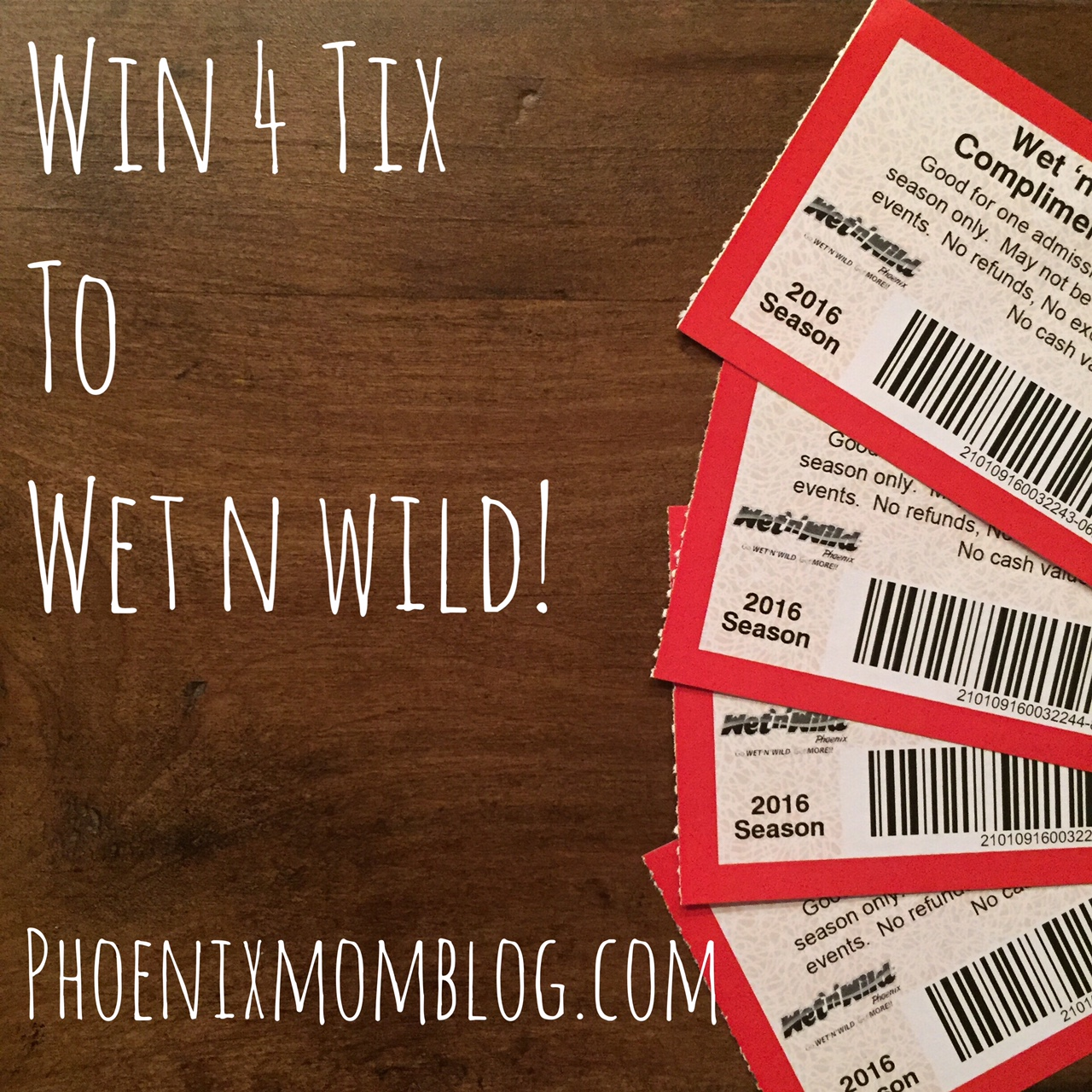 Win 4 Tickets To Wet 'N' Wild Phoenix!