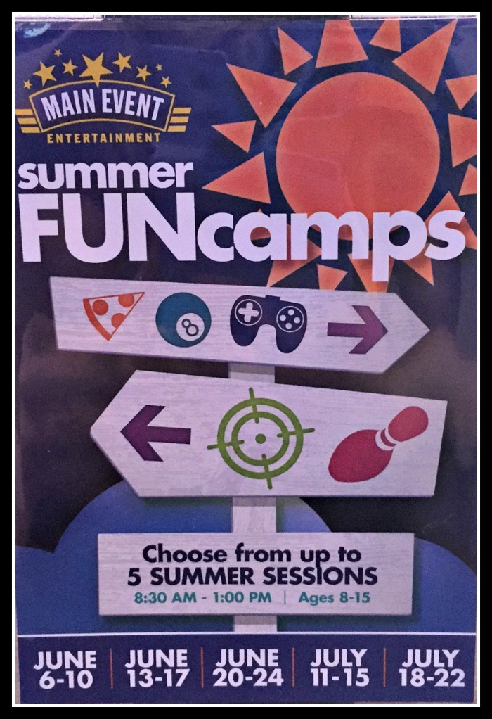 Summer FUNcamps at Main Event Entertainment #FunStigator