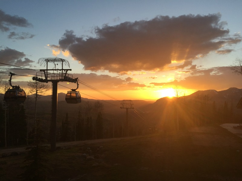 Sunset at Telluride Ski Resort