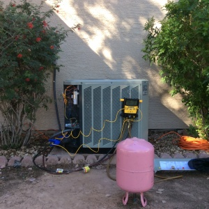 System Being Charged With Freon For Repair
