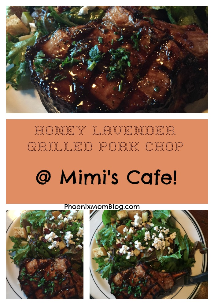 Mimi's Cafe: New Honey Lavender Grilled Pork Chop