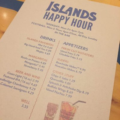 Happy Hour At Islands!